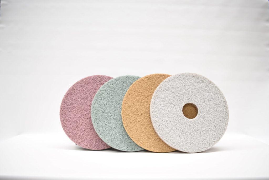 pads de pulido o discos de limpieza
